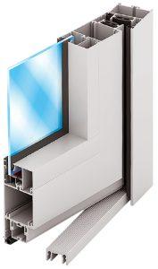 алюминиевые двери на основе профиля ALT C48
