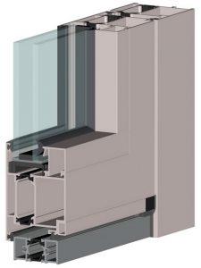алюминиевые двери на основе профиля ALT W62