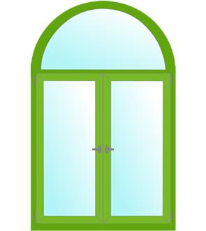 арочные окна с классической аркой