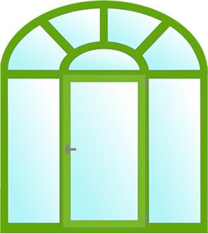 арочные окна - куполовидная арка