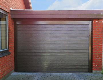 гаражные ворота Alutech - встроенный монтаж секционных ворот