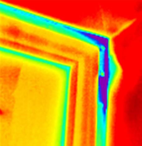 фото тепловизором окна без теплых откосов