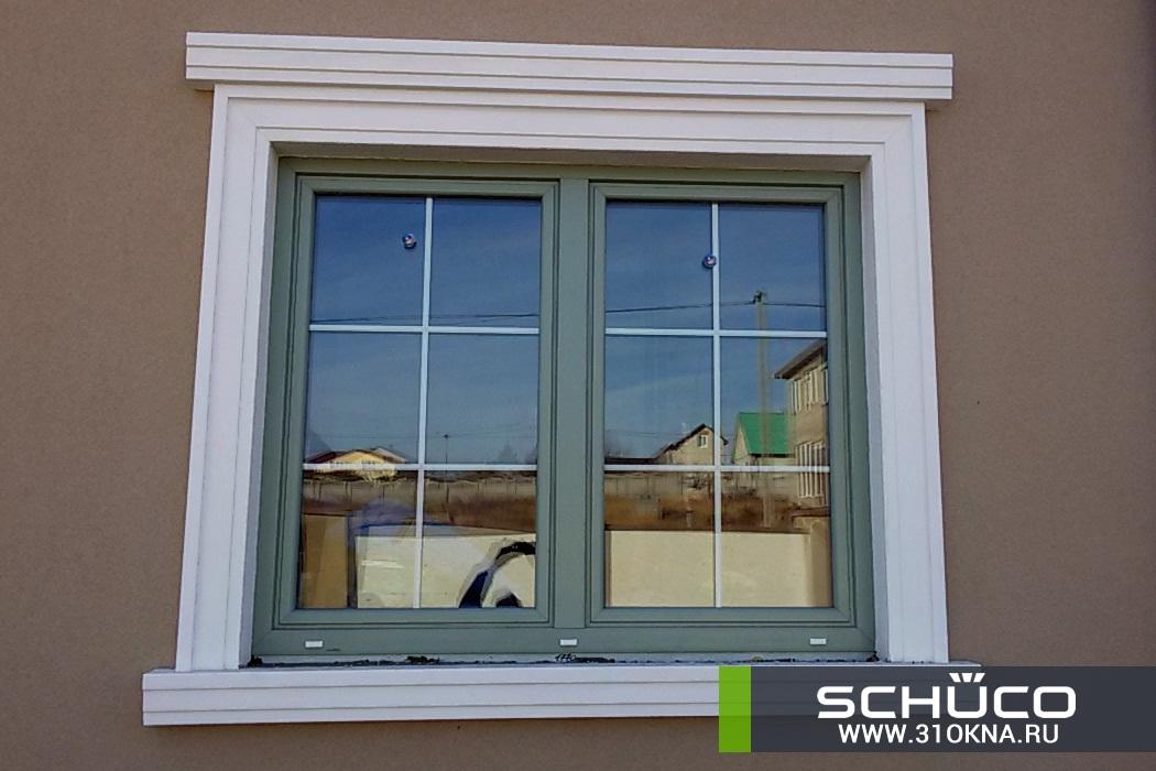 окна schuco оливкового цвета белгород таврово 3 -1